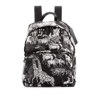 PradaTessuto Animal Kingdom Backpack, Black/White