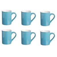 Price & KensingtonTall Bright Blue Stoneware 10oz Mug Set