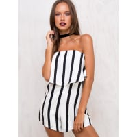 Princess PollyWomens Conquest Strapless Playsuit Black/White 10