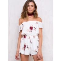 Princess PollyWomens Golden Cage Floral Playsuit Ivory 10