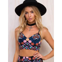 Princess PollyWomens Mimi Embroidered Crop Top White 10