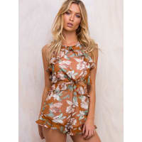 Princess PollyWomens Old River Floral Playsuit Rust 10