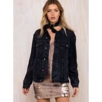 Princess PollyWomens Phoenix Denim Jacket Black M/L