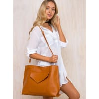 Princess PollyWomens Tan Fake Empire Tote Bag Tan One Size