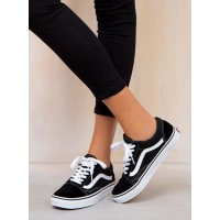 Princess PollyWomens Vans Black Old Skool Black AUS 9.5