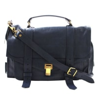 Proenza SchoulerPs1 Large Lux Messenger Bag- Midnight Blue Leather