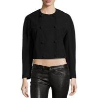 Proenza SchoulerDouble-Breasted Cropped Jacket, Black