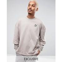 PumaDouble Sleeve Crew Sweatshirt in Beige Exclusive to ASOS - Beige