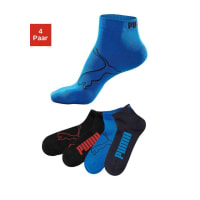 PumaKurzsocken (4 Paar), bunt, marine + blau + 2x schwarz