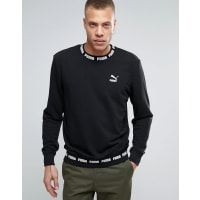 PumaLogo Rib Sweatshirt In Black - Black