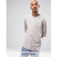 PumaOversized Double Hemmed T-Shirt In Beige Exclusive to ASOS - Beige