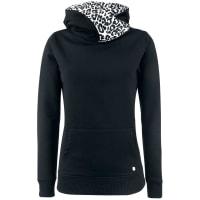 Pussy DeluxeCross Over White Leopard Girl-Kapuzenpulli schwarz