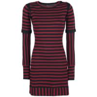 Pussy DeluxeKnit Stripe Dress Kleid rot/schwarz