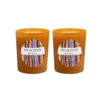 QualitasWild Honey Beeswax Candles (Set of 2) (6.5 OZ)