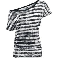 R.E.D. by EMPStriped Ladies Shirt Girl-Shirt schwarz/weiß