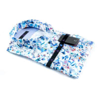 R2 WestbrookOUTLET R2 Westbrook Korte Mouw Overhemd Slim Fit Print