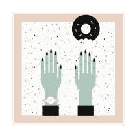 Rachel PeckPlease Donut TouchArt Block - 8x8