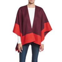Rag & BoneDouble-Face Colorblock Merino Wool Wrap, Berry
