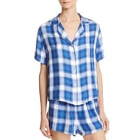 RailsPlaid Sleep Shirt and Shorts Pajama Set