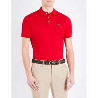 SelfridgesRALPH LAUREN PURPLE LABEL Custom-fit cotton-piqué polo shirt, Mens, Size: Large, Classic Red