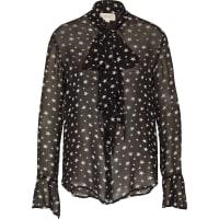 Ralph LaurenSchluppenbluse mit Sternenprint schwarz