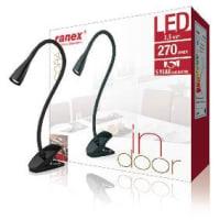 RanexClip Desk Lamp Black 3.5W 6Led 667 Gr