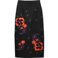 RaoulEmbroidered Mesh And Cotton-blend Jersey Skirt - Black