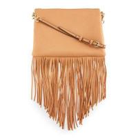 Rebecca MinkoffJon Leather Fringe Crossbody Bag, Butter Rum