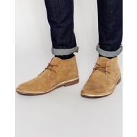 RedtapeLeather Suede Desert Boots - Beige