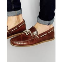 RedtapeDriving Loafers In Tan Leather - Tan