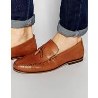 RedtapeTassel Loafers In Tan Leather - Tan