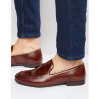 RedtapeTassel Loafers In Brown Leather - Brown