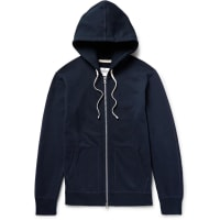 Reigning ChampLoopback Cotton-jersey Zip-up Hoodie - Midnight blue