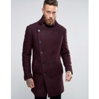 ReligionOvercoat With Asymmetric Buttons - Burg