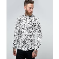 ReligionSmart Shirt With Heart Print In Skinny Fit - Wht/blk