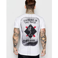 ReligionT-Shirt with Chest & Back Print - White