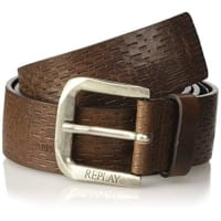 ReplayReplay Am2442.000.a3007, Cinturón para Hombre, Negro (Black Brown Fade), 90 cm (Talla del Fabricante: 90)