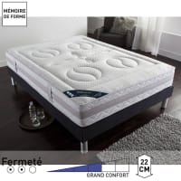 RêverieMatelas mousse HR, grand confort ferme, 7 zones