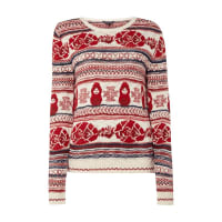 ReviewStrickpullover mit Norweger-Dessin