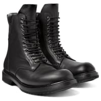 Rick OwensLeather Lace-up Boots - black