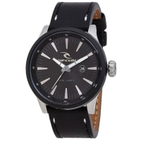Rip CurlRecon Surf Leather Watch Black