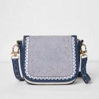 River IslandBlue stud detail satchel