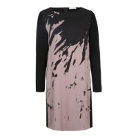 robe légèreMaterialmix-Kleid mit Print pink / schwarz