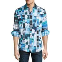 Robert GrahamArabian Sea Woven Button-Front Shirt, Blue
