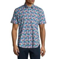 Robert GrahamBahama Trim Fit Printed Short-Sleeve Sport Shirt, Multi