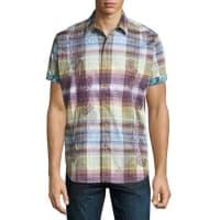 Robert GrahamBeatty Short-Sleeve Plaid Shirt, Multi