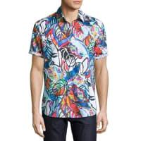 Robert GrahamCaprica Short-Sleeve Leaf-Print Sport Shirt, Multi Pattern