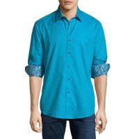 Robert GrahamCullen Tonal-Print Woven Sport Shirt, Aqua