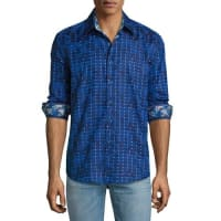 Robert GrahamDark Matter Sport Shirt, Navy