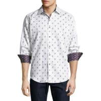 Robert GrahamDavide Woven Poplin Shirt, White